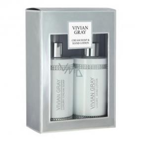 Vivian Gray Crystal White Luxurious Hydrating Liquid Soap 250 ml + Hand Lotion 250 ml, cosmetic set