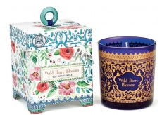 Michel Design Works Flowers with wild berries handmade scented candle in glass 184 g