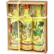 Kitl Syrob Bio Elderflower syrup 500 ml + Ginger syrup 500 ml + Mint syrup for homemade lemonade 500 ml, gift box