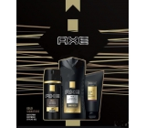 Ax Signature Gold deodorant spray for men 150 ml + shower gel 250 ml + Signature styling gel 125 ml, cosmetic set