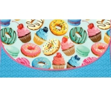 Nekupto Greeting card envelope for money Donuts, K 3538
