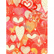 Nekupto Gift paper bag medium 18 x 23 x 10 cm Hearts 1878 30 KFM