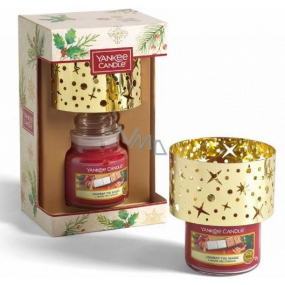 Yankee Candle Unwrap The Magic - Expand the magic scented candle Classic small glass 104 g + metal shade 1 piece, Christmas gift set