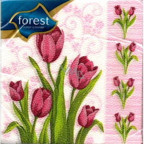 Forest Tulips Easter napkins 33 x 33 cm 1 layer 20 pieces