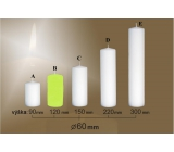 Lima Candle smooth light green cylinder 60 x 120 mm 1 piece