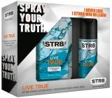 Str8 Live True voda po holení 100 ml + deodorant sprej 150 ml, kosmetická sada