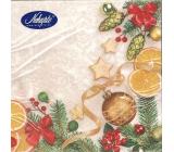 Nekupto Christmas paper napkins White, Christmas motif 33 x 33 cm 3 layers 20 pieces 061 02