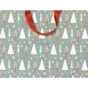 Nekupto Gift paper bag with embossing 23 x 18 cm Christmas 1499 WLFM