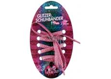 Glitter laces 120cm pink
