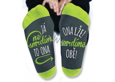 Nekupto Family gifts with humor Socks I don't stink, size 43-46