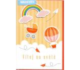 Nekupto Birth card Welcome to the world 115 x 170 mm 3457 J