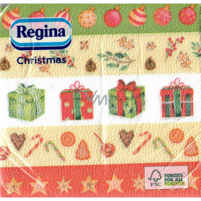 Regina Paper napkins 1 ply 33 x 33 cm 20 pieces Christmas Striped-gifts, flasks, stars