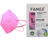 Famex Respirator oral protective 5-layer FFP2 face mask pink 1 piece