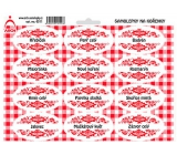 Arch Spice Stickers with Red Ornament Cloves - Basic Spices 0311