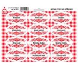 Arch Samolepky na kořenky s červeným ornamentem Hřebíček - základní druhy koření 0311