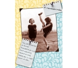 Albi Envelope Playing Card Birthday Two Exercises Hold Dance, Movement Jan Werich 14.8 x 21 cm