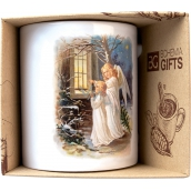 Bohemia Gifts Ceramic mug with a picture of Two Angels 350 ml