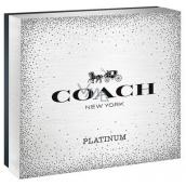 Coach Platinum perfumed water for men 100 ml + shower gel 100 ml + perfume water for men 7.5 ml, gift set