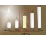 Lima Gastro smooth candle ivory cylinder 50 x 170 mm 1 piece