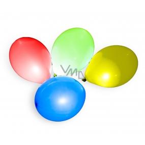 Inflatable balloon with LED light 30 cm 3 + 1 pieces in a bag