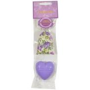 Le Chatelard Scented Sack 7g + Soap Shaped Heart 25g - Violet 4223