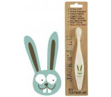 Jack N Jill BIO Hare extra soft organic toothbrush for children, decomposable in nature, made of corn starch, without BPA and PVC