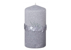 Arome Star belt candle silver cylinder 60 x 120 mm 260 g