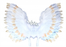 Angel wings with white-gold feathers 67 x 46 cm
