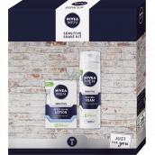 Nivea Men Sensitive Shave Kit aftershave 100 ml + shaving foam 200 ml, cosmetic set for men
