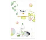 Dove Nourishing Secrets Refreshing Go Fresh Touch Cucumber & Green Shower Gel 250 ml + toilet soap 100 ml + washing sponge, cosmetic set
