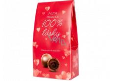 Albi Chocolate pralines 100% love 100 g