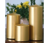 Lima Candle smooth metal gold cylinder 60 x 120 mm 1 piece