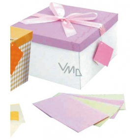 Angel Folding gift box with ribbon pink 25 x 25 x 14.5 cm 1 piece