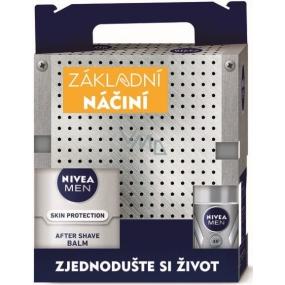 Nivea Men Silver Protect gel na holení 200 ml + balzám po holení 100 ml + kuličkový antiperspirant 50 ml + Men Krém 150 ml, dárková sada