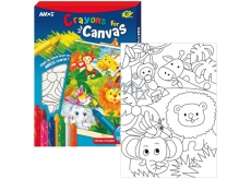 Amos Frame with canvas ZOO + landscapes 8 colors 28 x 20 cm + gift