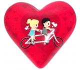 Nekupto Magnet Heart pink, round 4 cm