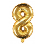 Balloon inflatable number 8, 35 cm foil