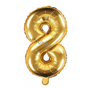 Inflatable balloon number 8, 35 cm foil