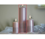 Lima Ribbon candle light pink cylinder 60 x 220 mm 1 piece