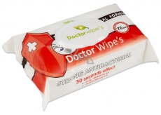 Doctor Wipes Antibacterial containing chlorexidine wet antibacterial wipes with clip of 72 pieces