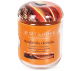 Heart & Home Tangerine with spices Soy scented candle medium burns up to 30 hours 115 g