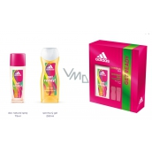 Adidas Get Ready! for Her perfumed deodorant glass 75 ml + shower gel 250 ml cosmetic set for women
