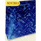 Nekupto Gift Paper Bag Large 32 x 26 x 13 cm Blue Hologram 122 40 THL