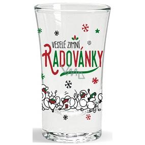 Nekupto winter glass shot Merry winter fun 40 ml