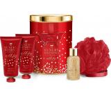 Grace Cole Decadence shower gel 100 ml + body lotion 100 ml + bath foam 50 ml + washcloth + tin can, cosmetic set