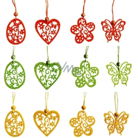 Hanging decorations with polka dots 6 cm 4 pieces