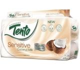 Tento Sensitive Coconut Milk s kokosovým mlékem parfémovaný toaletní papír 3vrstvý 8 rolí