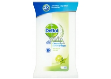 Dettol Cleansing Surface Wipes Limetka a máta antibakteriální ubrousky na povrchy 36 kusů