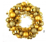 Wreath of golden flask 28 cm