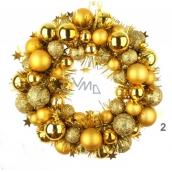 Wreath of golden flask 28 cm